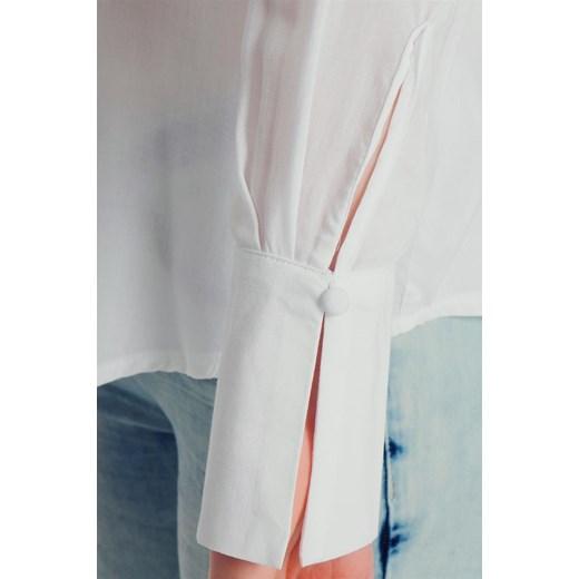 d4620c4489 ... Bluzka damska wiązana pod szyją elegancka biała Fresh Made Fresh Made  XL okazja cityruler2018