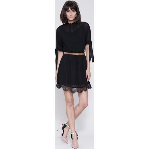 53b84f2c79 Czarna Sukienka Crush Renee uniwersalny Renee odzież ...