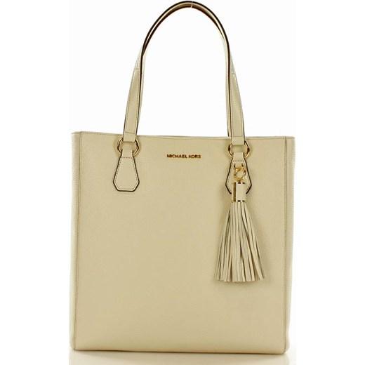 2107c3ef9708c Oryginalna torebka shopper bag MICHAEL KORS ECRU bezowy Michael Kors  okazyjna cena Verostilo ...