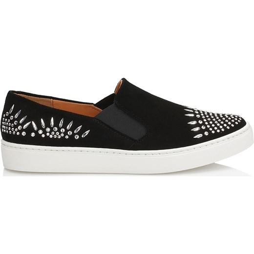 cb742186c2de8e Czarne buty sportowe wysadzane kryształami Swarovskiego® Kazar kazar.com w  Domodi