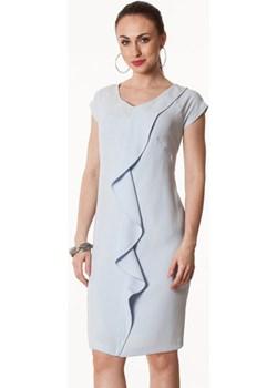 Sukienka błękitna z falą Blanca Semper   - kod rabatowy
