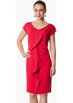 Sukienka fuksja z falą Blanca Semper   - kod rabatowy