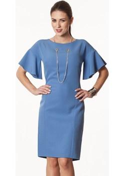 Sukienka błękitna Danuta  Semper  - kod rabatowy