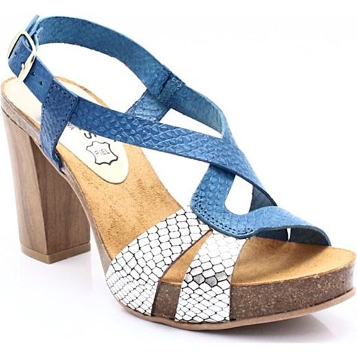 d328db6e093dd MARIETTAS 7128 GRANAT+SREBRO - Hiszpańskie buty niebieski Mariettas 35  wyprzedaż Tymoteo.pl -