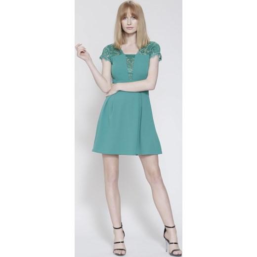 f449ae5c94 Zielona Sukienka Dreaming Of You turkusowy Renee uniwersalny Renee odzież  ...