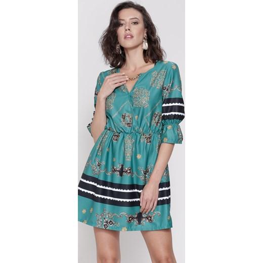 668372f705 Zielona Sukienka Belle Florist turkusowy Renee uniwersalny Renee odzież ...