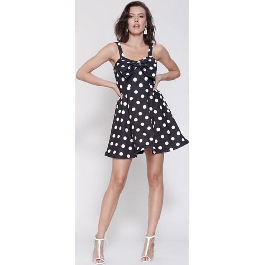 ac895f90ce Czarna Sukienka Precious Love Renee bezowy uniwersalny Renee odzież ...