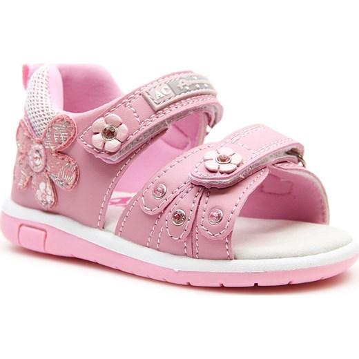 26ca9869 Sandały dziewczęce na rzepy różowe American Club rozowy American Club 21  ButyRaj.pl okazja ...