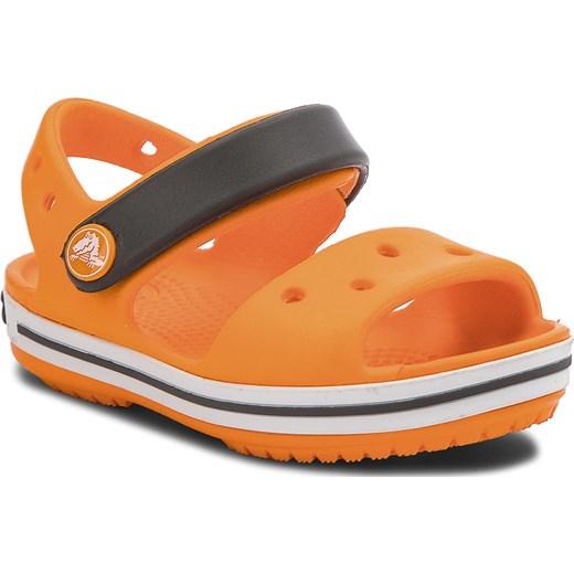 niskie ceny nowy styl sprzedawca hurtowy Sandały CROCS - Crocband Sandal Kids 12856 Blazing Orange/Slate Grey  pomaranczowy eobuwie.pl