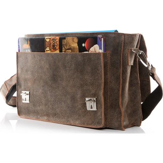 07545de4fc0c4 ... Męska torba ze skóry naturalnej beżowa BV50 Uk Fashion One Size  promocyjna cena Brytyjka.pl ...