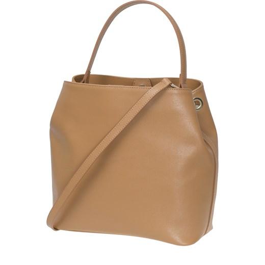 44b4eab0e48a8 ... Włoska modna torebka miejska Worek Shopper Wilma brązowa Vera Pelle  Vera Pelle okazyjna cena rinkopl