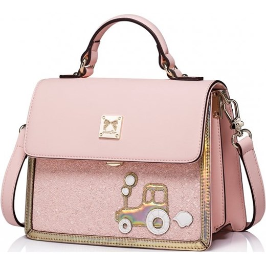 e4f791d936403 JUST STAR Stylowa dziewczęca różowa torebka damska kuferek na ramię Just  Star rinkopl ...