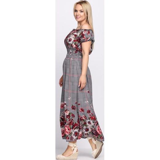 414a67e2b2 ... Granatowo-Czerwona Sukienka Flower Garden Born2be L XL wyprzedaż  Born2be Odzież ...
