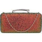 729b4b5f31e7c Mieniąca brokatowa torebka wizytowa rudy z zielenią - zdjęcie produktu