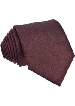 Krawat jedwabny jednolity brązowy (2) Republic Of Ties   - kod rabatowy