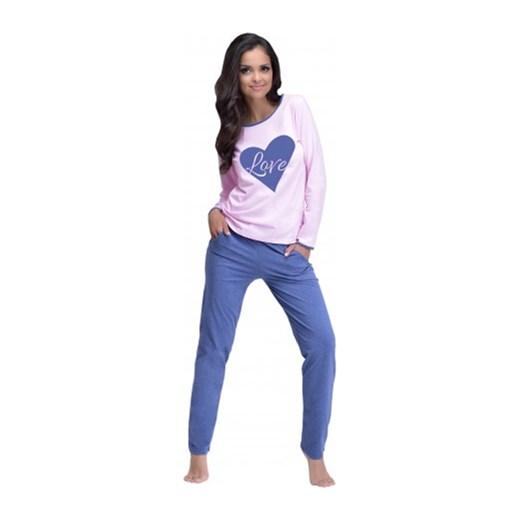 d889d05766679e Piżama damska Rozalia niebiesko różowa Taro S XOXOXO.pl promocja