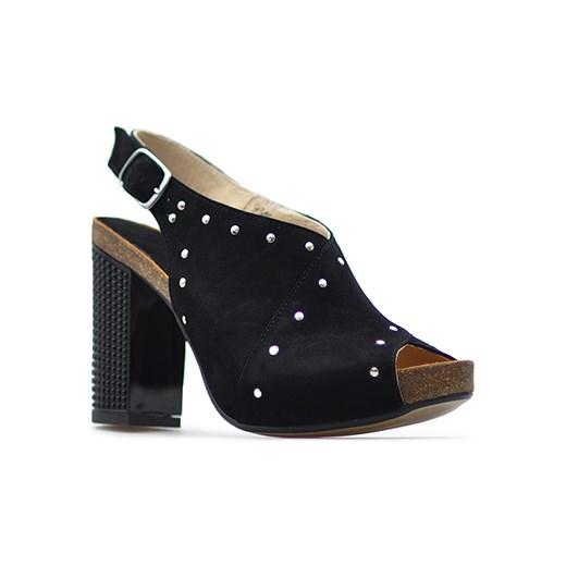 abb3239779c2c Sandały Libero 9345/135 Czarne zamsz Libero Arturo-obuwie ...
