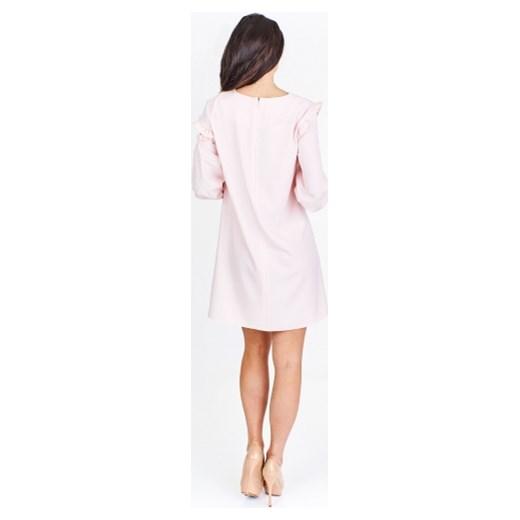 caf94188 Trapezowa sukienka z wycięciami na ramionach La Blanche ptakmoda.com