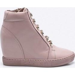 cd66c28616f1 Sneakersy damskie Carinii różowe skórzane bez wzorów