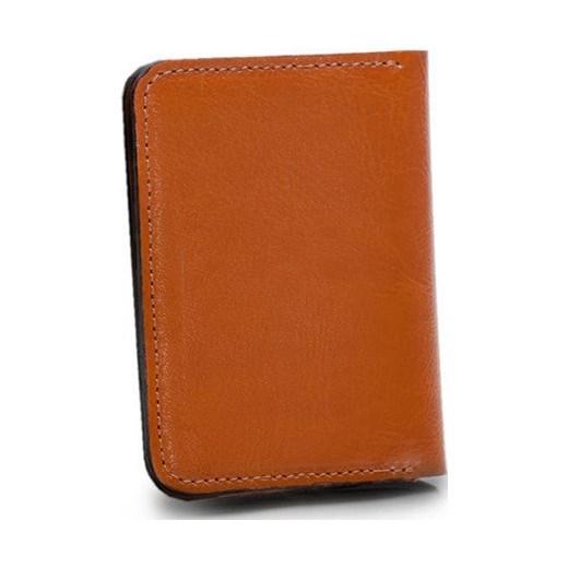 53922681cfb37 ... Skórzany cienki portfel męski z bilonówką SOLIER SW16A SLIM jasny brąz  Solier Skorzana.com ...