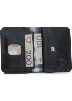 Skórzany cienki portfel męski z bilonówką SOLIER SW16A SLIM czarny Solier  Skorzana.com - kod rabatowy