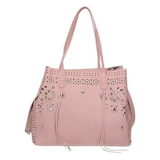 596f8dc7603b4 Różowa torebka damska z kwiatowym ażurowym wzorem SOLO 17S 288A Sarl So lo  rinkopl