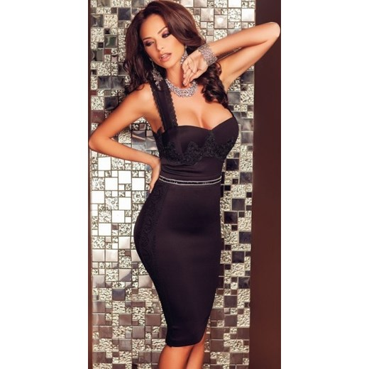 61d00a09fe Czarna sukienka midi przepasana na plecach M Noshame M okazyjna cena  noshame pl