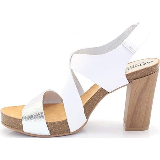 c8fd755e MARIETTAS 7800 BIAŁE-SREBRNE - Hiszpańskie buty brazowy Tymoteo.pl sklep  obuwniczy w Domodi