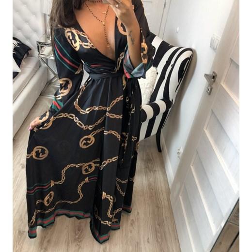 37f92dd9f28be Sukienka ala Gucci długa czarna Hollywood dream w Domodi