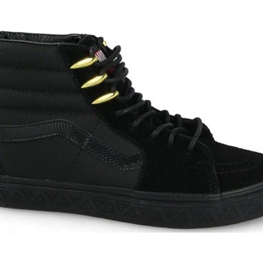Buty damskie sneakersy Vans Sk8 Hi x Marvel Black Panther VA38GEUBH CZARNY sneakerstudio.pl