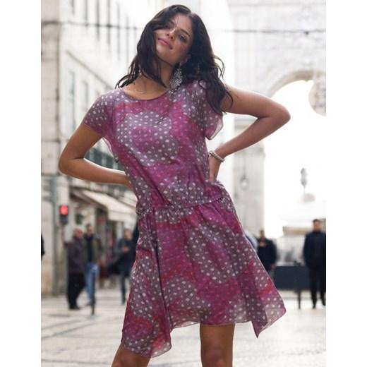 1fccd31154 Sukienka jedwabna Malaga lila fioletowy Ju Lovi showroom.pl w Domodi