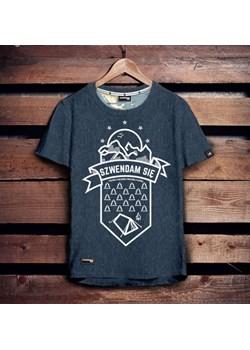 Koszulka męska - SZWENDAM SIĘ NAMIOT - jeansowy melanż S   Szwendam się - kod rabatowy