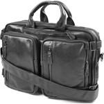 f3ebab5288c3e Czarna skórzana torba 3w1 Delton - zdjęcie produktu