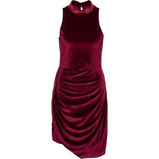 54779e7734 Asymetryczna sukienka aksamitna BODYFLIRT bonprix w Domodi