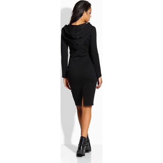 854acdcfcb ... Długa dopasowana sukienka czarna Lemoniade L merg.pl ...