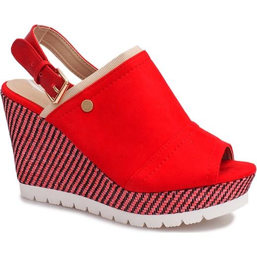 17dae62b Czerwone sandały na koturnie Holi gemre w Domodi