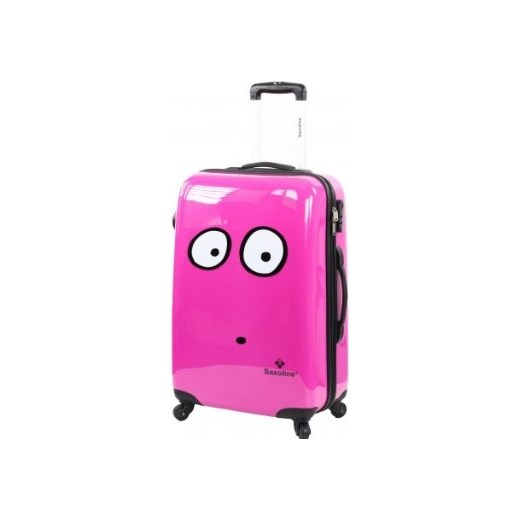57fd8aac30e27 Twarda różowa walizka na kółkach SAXOLINE My Eyes Fuchsia 1185H0.17.59M  sagana-pl