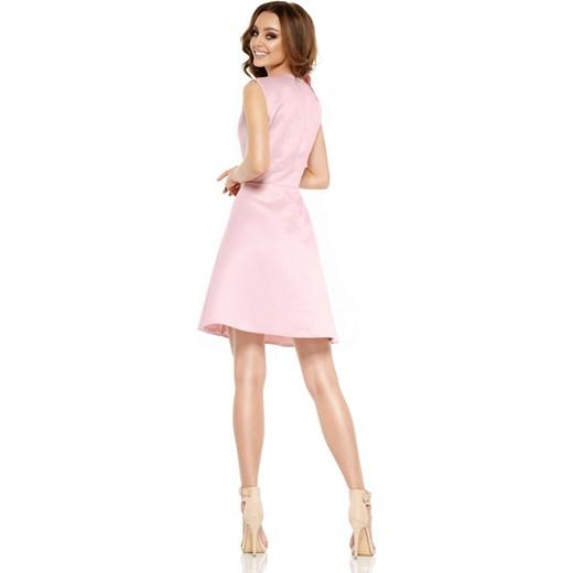 b05ab2c700 ... Oszałamiająca sukienka z falbaną pudrowy róż Lemoniade M merg.pl ...