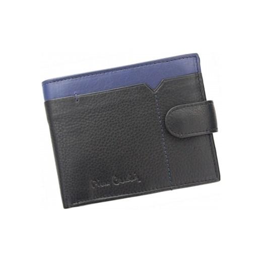 502539737d549 Markowy portfel męski skórzany Pierre Cardin czarny zapinany Tilak 14 324A  RFID galanter