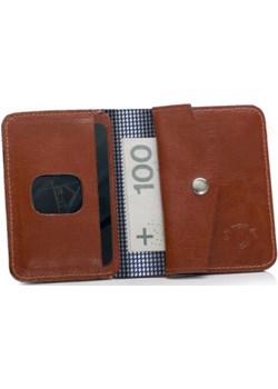 Brązowy portfel na dokumenty i karty kieszeń na bilon SOLIER SW16A SLIM Solier  galanter - kod rabatowy