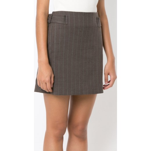 Edging awhile, brown straight skirt Dom