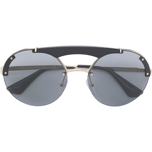727345c2e0c Prada Eyewear round frame double nose bridge sunglasses - Black Prada  Eyewear 60 Farfetch ...