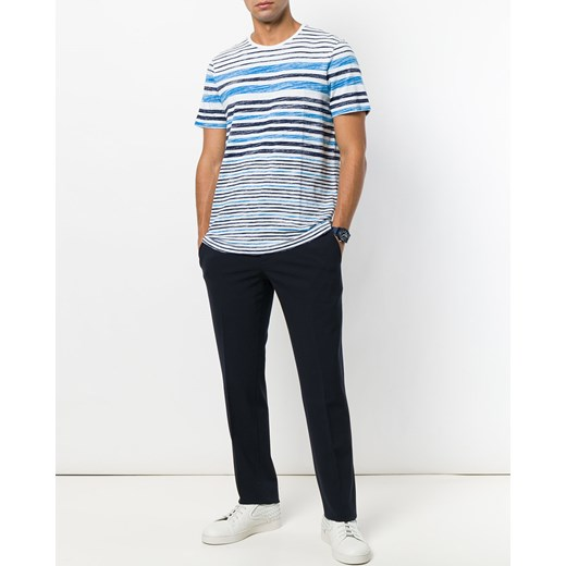 Michael kors collection striped t shirt blue czarny for Michael m collection