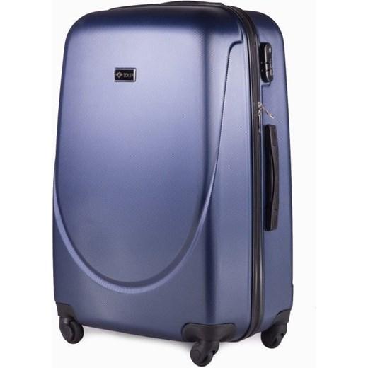 3ff7401affdaf Duża walizka podróżna na kółkach SOLIER STL310 L ABS granatowa Solier  Skorzana.com ...