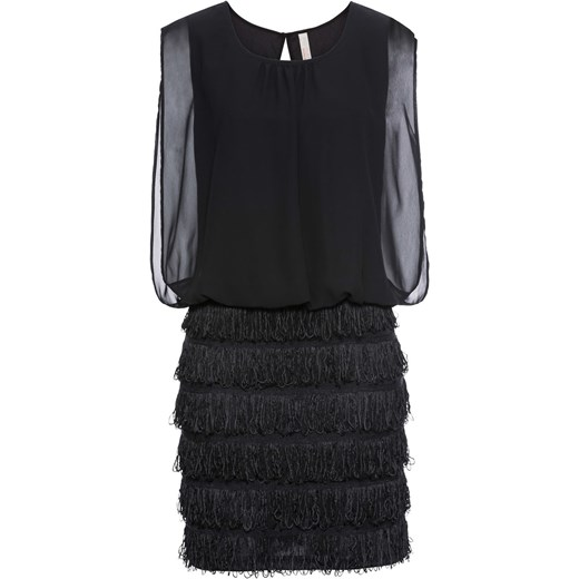 137e02e528 Sukienka z koronką i frędzlami Bonprix Bodyflirt Boutique w Domodi