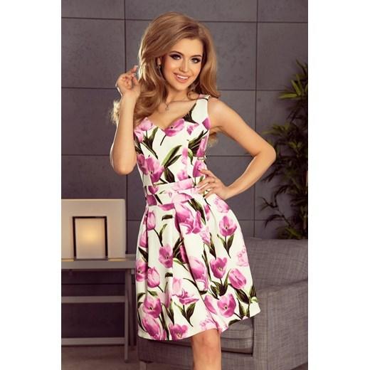ff99ebcca4 160-4 Sukienka rozkloszowana z dekoltem