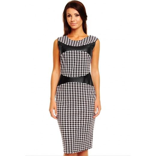 4770ceb696 Sukienka z wstawkami ze skóry km149 Kartes Moda 38 (M) JestesModna.pl ...