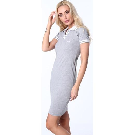 6a85a5c610 ... Sukienka polo jasnoszara 3810 fasardi L fasardi.com ...