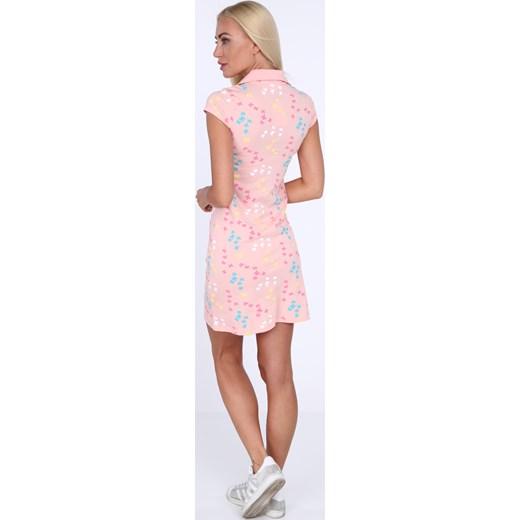 72ebf210c7 ... Sukienka polo w motylki jasnoróżowa 7690 fasardi L fasardi.com ...