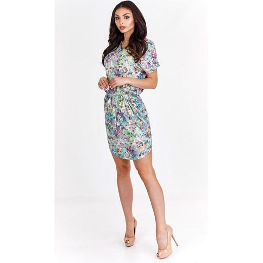 cd52b36bf9 Casualowa sukienka w wielobarwny